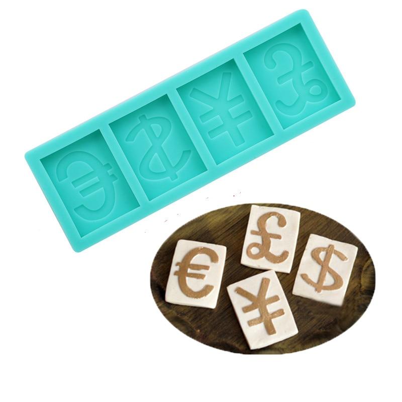 Geleerd Groene Siliconen Geld Dollar Euro Franc Cash Card Zeep Cakevormen 3d Print Bakvormen Bakken Fondant Taart Decoratie Gereedschappen Met Een Langdurige Reputatie
