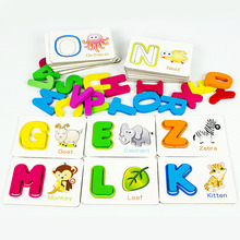 Children Alphabet Puzzle Game Card English Letters Learning Toys Vocabulary Word Picture Educational