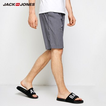 JackJones Men's Plaid Pattern Drawstring Casual Shorts Soft Boxer Pajama Sexy Nightwear Underpants Home wear E|2183HD501 1