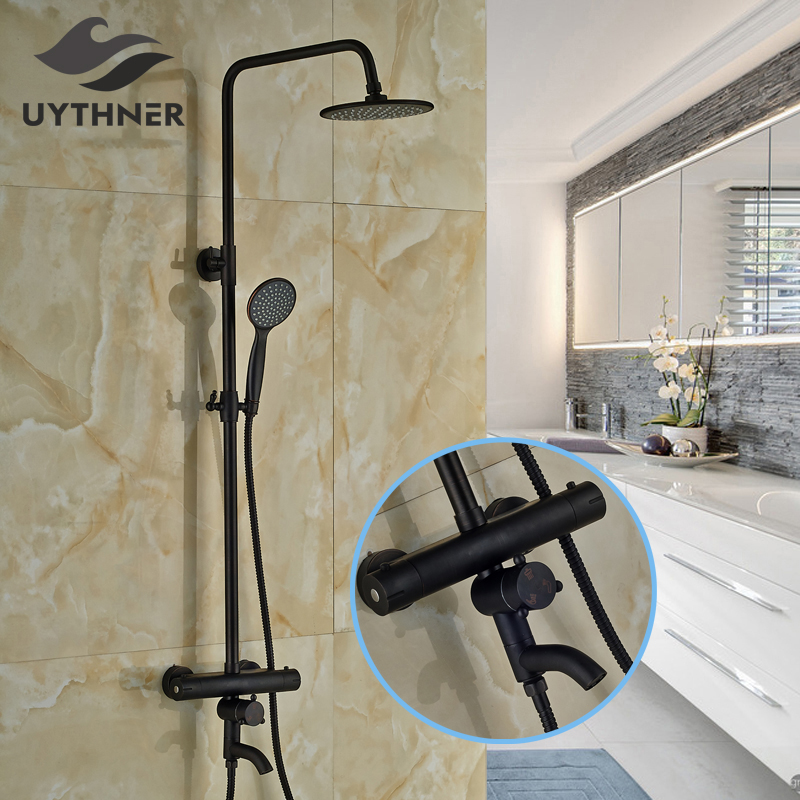 Bronze Thermostatic Shower Mixing Valve: Newly Euro Style Thermostatic Shower Set Faucet Oil Rubbed