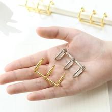 2Pcs/Lot A5 A6 A7 Metal Loose Leaf Book Binder Hinged Rings Keychain Album Scrapbook Clips Craft Photo Album Metal Ring Binder