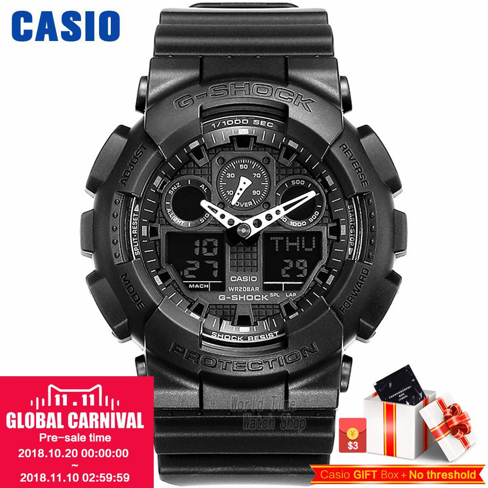 Casio Multifunctional Outdoor Sports Waterproof Men's Watches GA-100-1A1 GA-100-1A2 GA-100-1A4 GA-100A-7A GA-100BW-1A the latest rubber 16mm strap strap apply to for casio ga 100 ga 100 ga 120 ga 120 gd 100 gd 120 ga 100c watch accessories