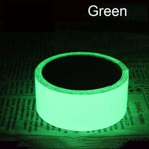 Image 5 - Yansıtıcı Glow Bant Kendinden yapışkanlı Etiket Çıkarılabilir Parlak Bant Floresan Parlayan Koyu Çarpıcı Uyarı Bandı