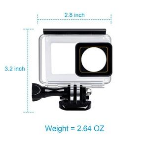 Image 3 - 터치 스크린 방수 케이스 수중 35m 다이빙 보호 쉘 하우징 Xiaomi 이순신 4K 2 II 액션 카메라 액세서리