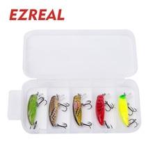 Ezreal 5pcs/lot sinking Fishing Lures 37mm 2g/1PCS Wobbler mini fishing minnow crankbait Artificial Hard crank Bait  M002-5