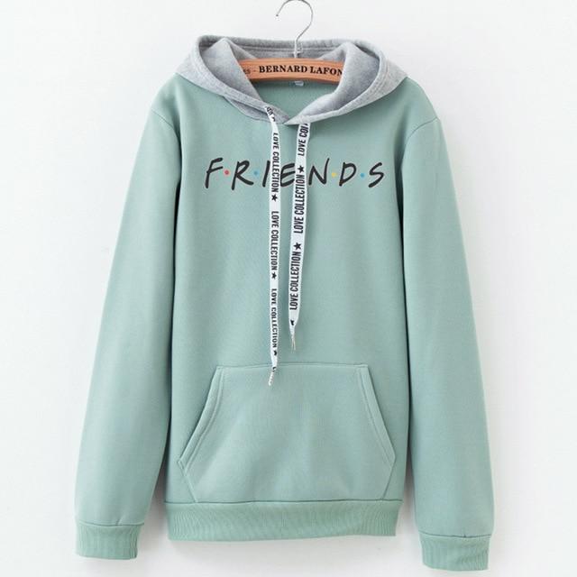 2019 New Friends Printing Hoodies Sweatshirts Harajuku Crew Neck Sweats Women Clothing Feminina Loose Women's Outwear Fall B0314 2
