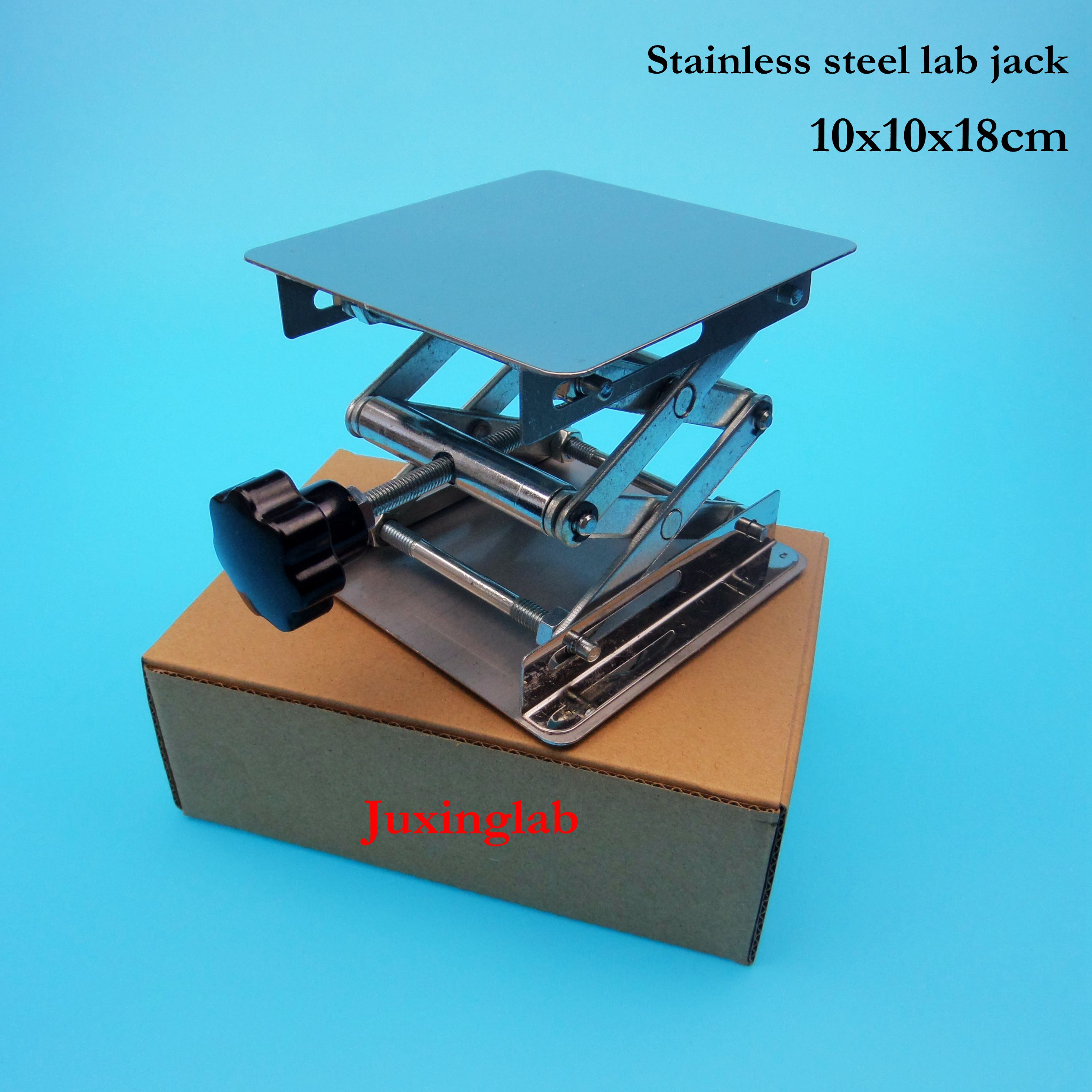 Lab Jack Laboratory Support Jacks 100x100x180mm Stainless Steel Lifting Table Raising Platform 4'' Inch 10x10x18cm