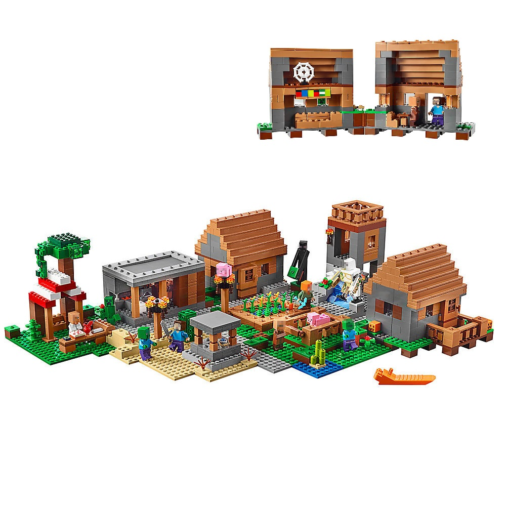 Building Blocks Compatible Legoe Minecrafted The Village Model 21128 1673PCS Toys for children My world Bricks Kid gift lepin 18010 my world 1106pcs compatible building block my village bricks diy enlighten brinquedos birthday gift toys kids 21128