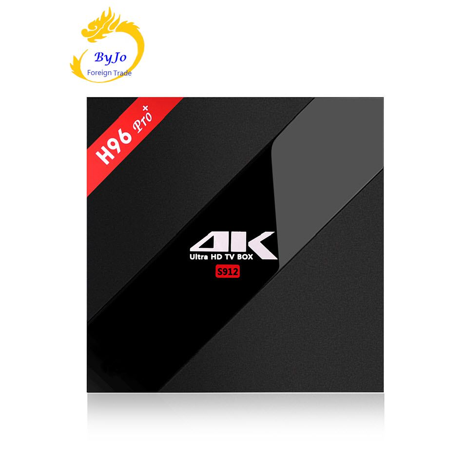 ФОТО H96 Pro+ 2/3G DDR3  16/32G Flash 2.4G/5GHz Wifi 4K Amlogic S912 Octa Core Android 6.0 KODI 17.0 Android tv box H96 plus