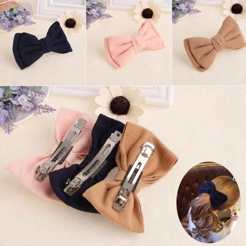 Женский большой бант резинка для хвоста держатель заколка для волос заколка аксессуары для волос хаки, светло-розовый, темно-синий