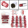 Red 35MM WHEELS LOCK LUG NUTS 12X1.5 FIT FOR HONDA CIVIC ACORN RIM FORGED DURA 20