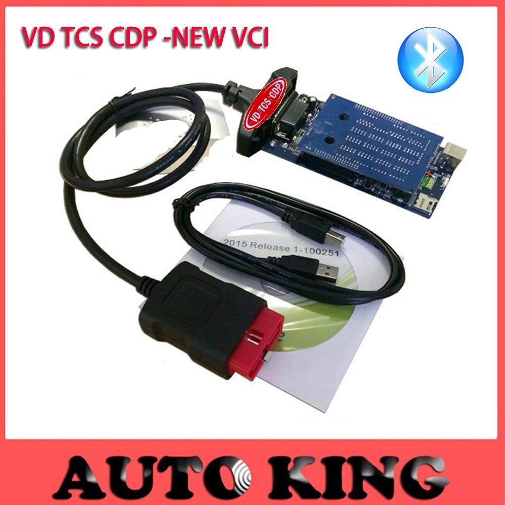 Prix pour Grand escompte! VD TCS CDP nouvelle vci avec bluetooth pour voitures et camions obd2 auto outil de diagnostic tcs cdp pro comme multidiag pro + mvd