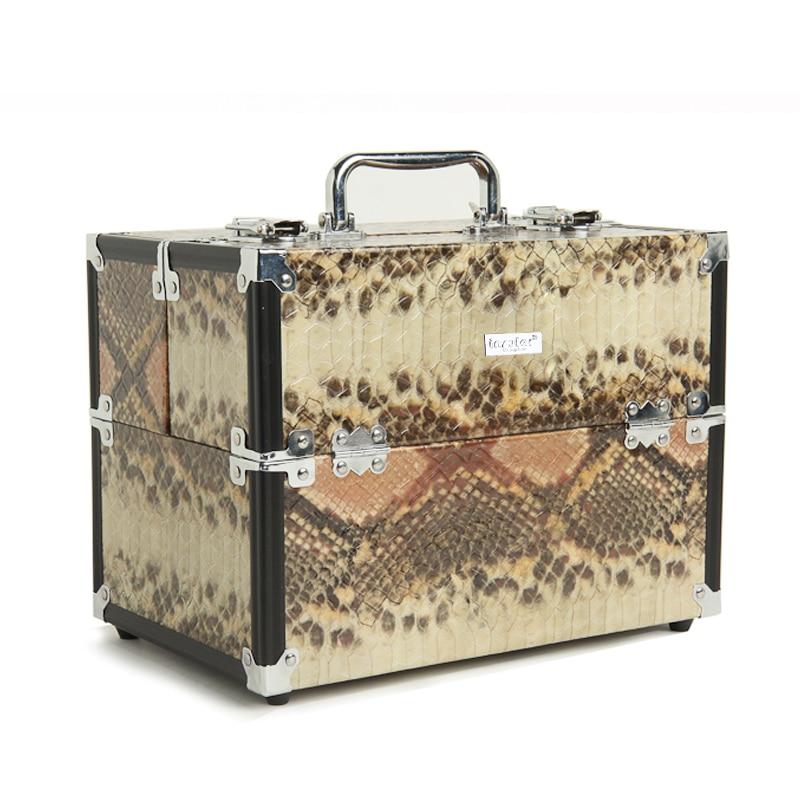 Insular Brand Aluminum Cosmetic Case Makeup Case Makeup Bag цена