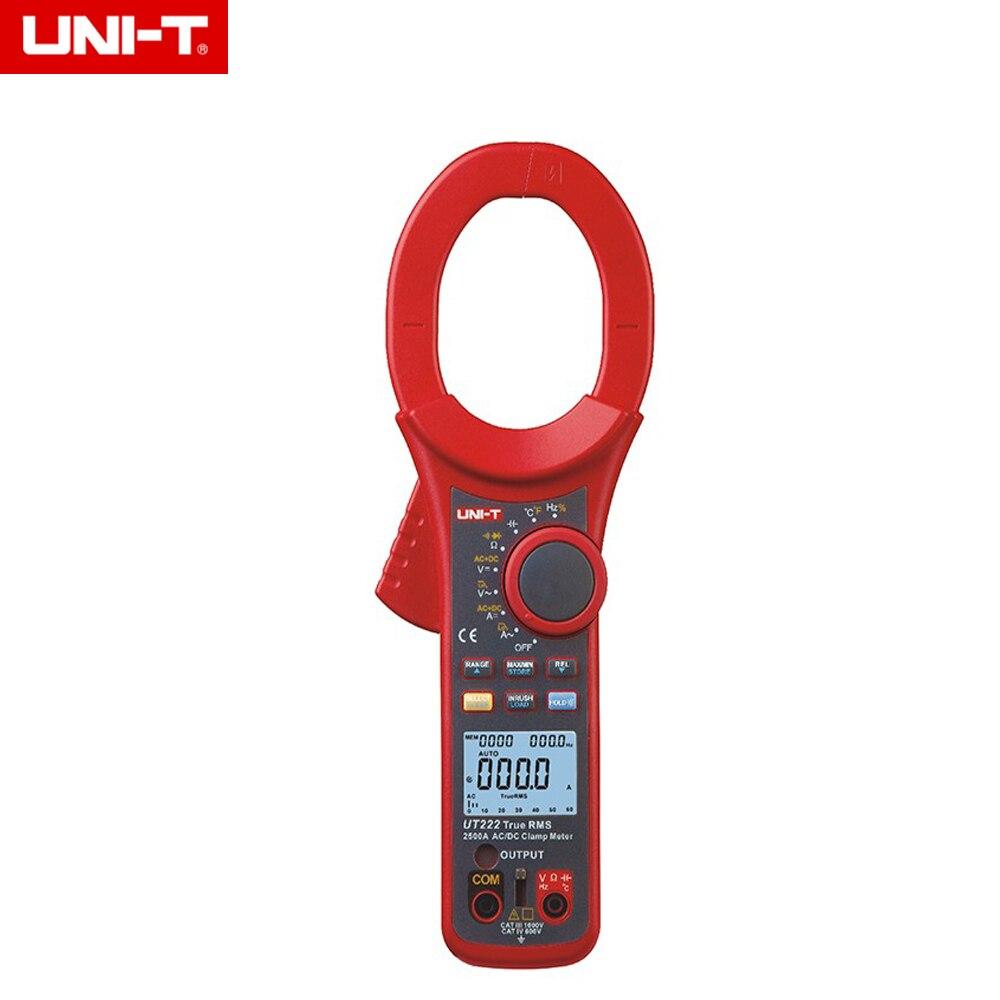 UNI T UT222 AC/DC 2500A Цифровой Токоизмерительные True RMS сопротивление/частота/Температура/диода Тесты Surge ток хранения данных