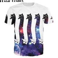 PLstar Cosmos Neue mode 3d druck Katzen T-Shirt Frauen Casual Männer Graphic tees Outfits Trippy t-shirt Sommer Mode Kleidung