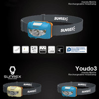 Sunrei Youdo 3 ABS Head Lamp Headlight Night Run Sporting Goods Cycling Camping Hiking Super Bright Light Weight Durable