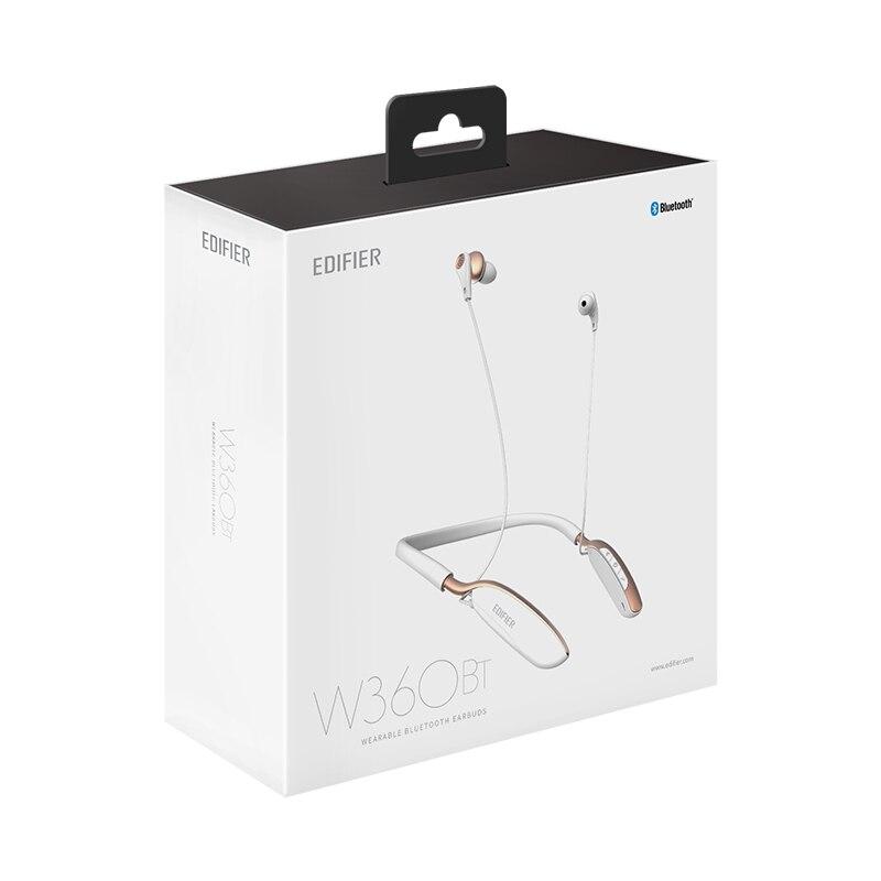 EDIFIER W360BT around-the-neck fone de Ouvido Sem Fio Bluetooth Fone de Ouvido Ergonômico Grande 13mm Drivers de Comandos de Voz Inteligente Fones De Ouvido 6