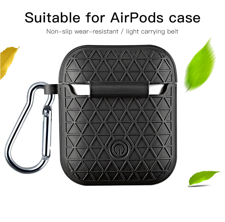 !ACCEZZ Grid Silicone Earphone Case For AirPod Headset Protective Fundas Cover Accessories For Apple AirPods With Key Chain Box (3)