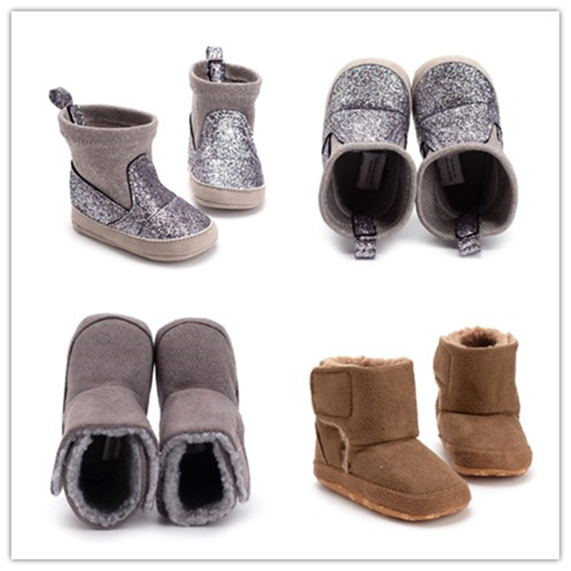 Winter Warm Baby Boots Newborn Baby Shoes For Boys Girls Russia Cotton Knit Stitching Baby Booties Boy Girls Shoes
