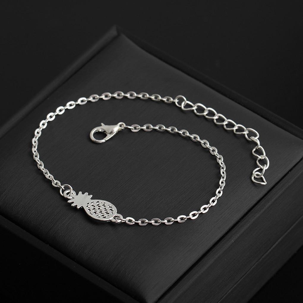 New style Simple Design Hollow Pineapple Bracelet Fruit Design Wristband Women Jewelry Accessories