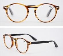 Eyesilove nova moda Mulheres Homens Óculos De Leitura rodada do vintage  óculos de leitura com várias cores + 100 + 150 + 200 + 2. 081891534d