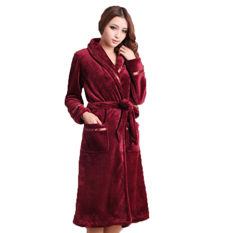 62bb584027 Product Name  Autumn winter couple pajamas Winter Coral velvet men and women  couples sleep gown thick in the long paragraph flannel bathrobes