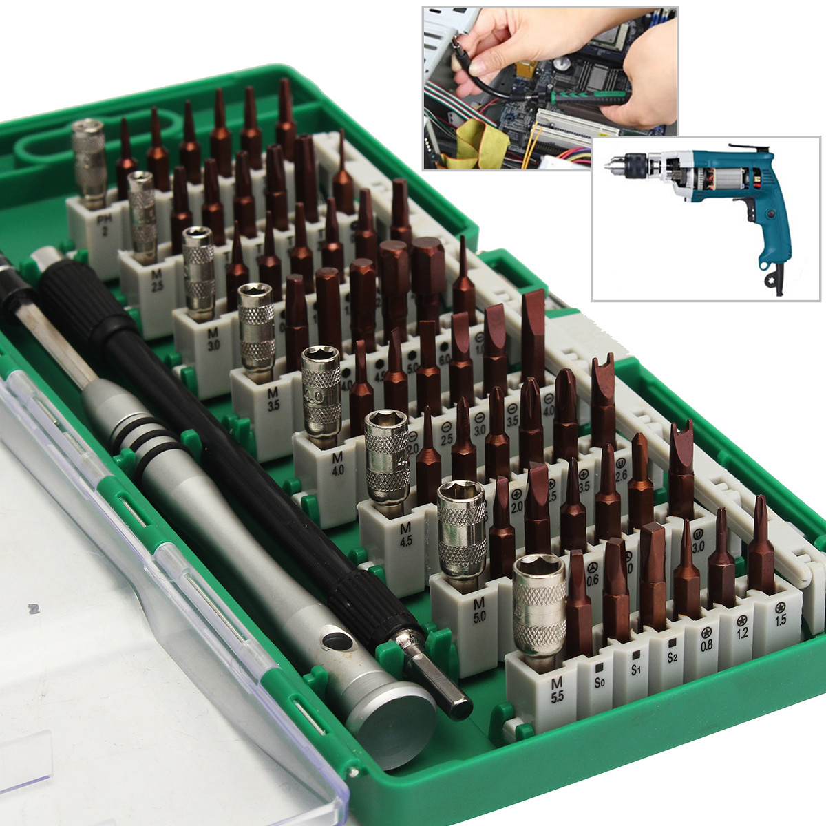 цена на 60 in 1 Magnetic Precision Screwdriver Set Repair Opening Tools Kit For Cell Phone Laptop Home Appliance Computer Camera