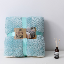 soft weighted Rasche berber Fleece blanket for bed winter office sofa throw solid hotel travel blankets adult Bedspread quilt