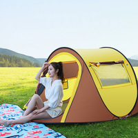 Throwing Pop Up Speed Open Tents Outdoor Waterproof Camping Hiking Tent Automatic Throw Thicken Tent Travel Auto Tents