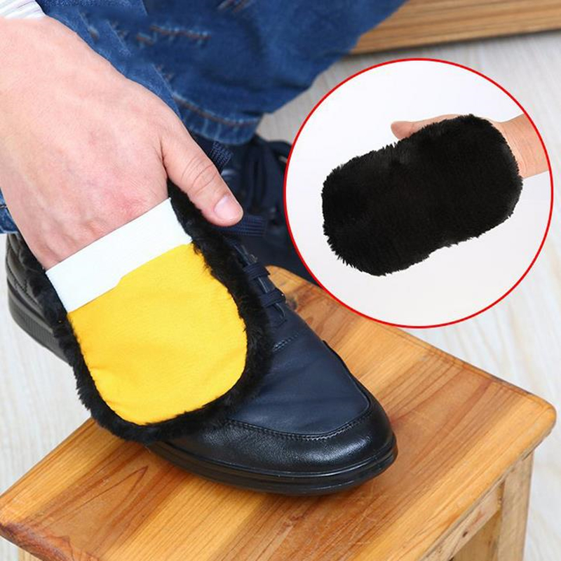 DoreenBeads Polyester Random Color Practical Cleaning Cloths Leather Shoes font b Household b font Cleaning font