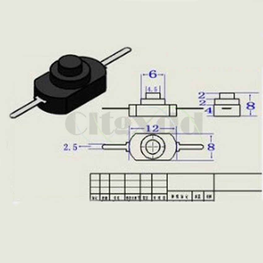 Cltgxdd 1 個白/黒セルフロックボタンスイッチ 1A 30 V DC 250 V ラッチオフミニトーチプッシュボタンスイッチ