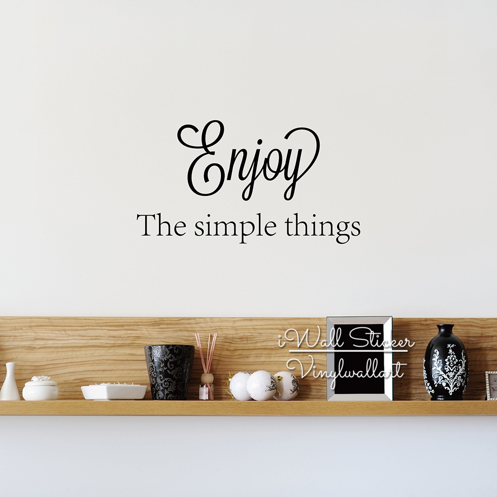 Wall Art Quote Enjoy Simple Things Office Quotes Etsy Iltribunocom