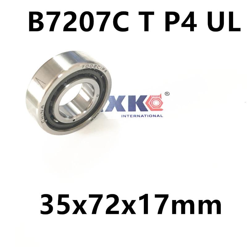 1pcs AXK  7207 7207C B7207C T P4 UL 35x72x17 Angular Contact Bearings Speed Spindle Bearings CNC ABEC-7 1pcs 71901 71901cd p4 7901 12x24x6 mochu thin walled miniature angular contact bearings speed spindle bearings cnc abec 7