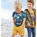 Nuevo 2017 de la Marca de Calidad 100% Del Algodón Del Bebé Boys Que Arropa 2 unid Juego de los niños Niños Ropa de Manga Corta Set Para Bebés Outwear