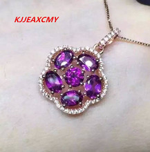 KJJEAXCMY Fine jewelry, natural garnet, female pendants, inlay, custom made S925 Sterling Silver natural purple tooth garnet garnet ring classic garnet s925 sterling silver jewelry free shipping
