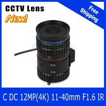 12Megapixel Varifocal CCTV 4K Lens 1/1.8 inch 11-40mm CS Mount DC IRIS For SONY IMX226/178  Box Camera/4K Camera Free Shipping