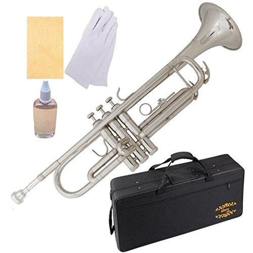 Brass Bb Trumpet With Pro Case +Care Kit, Gold, No NEED TUNING,Play Directlly. More COLORS Available ! CLICK On LISTING To SEE A