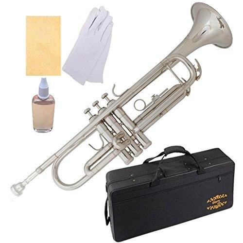 Trompette en laiton Bb avec boîtier Pro + Kit de soin, doré, pas besoin de réglage, jouer directement. Plus de couleurs disponibles! Cliquez sur la liste pour voir un