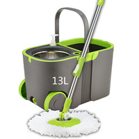 Modern Double Drive Mop Bucket Set 360 Degree Rotary Mop Hand Pressure Mop Stainless Steel Handle Household Cleaning Tools