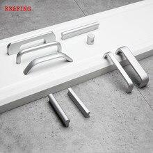 KK& FING европейские окислительные матовые ручки для шкафа дверные ручки из алюминиевого сплава кухонный шкаф тянет ящики тянет мебельное оборудование