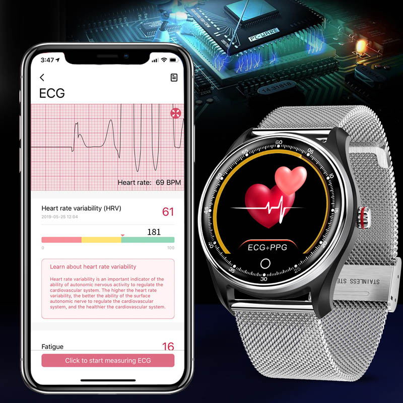 Image 2 - MAFAM smart watch men women blood pressure ECG heart rate monitor smartwatch fittness tracker IP68 smart band android IOS watch-in Smart Watches from Consumer Electronics