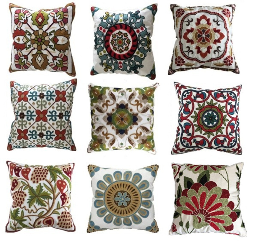 Decorative Pillows Without Covers : Aliexpress.com : Buy Decorative embroidery sofa cushion cover throw pillows covers 45cm*45cm ...