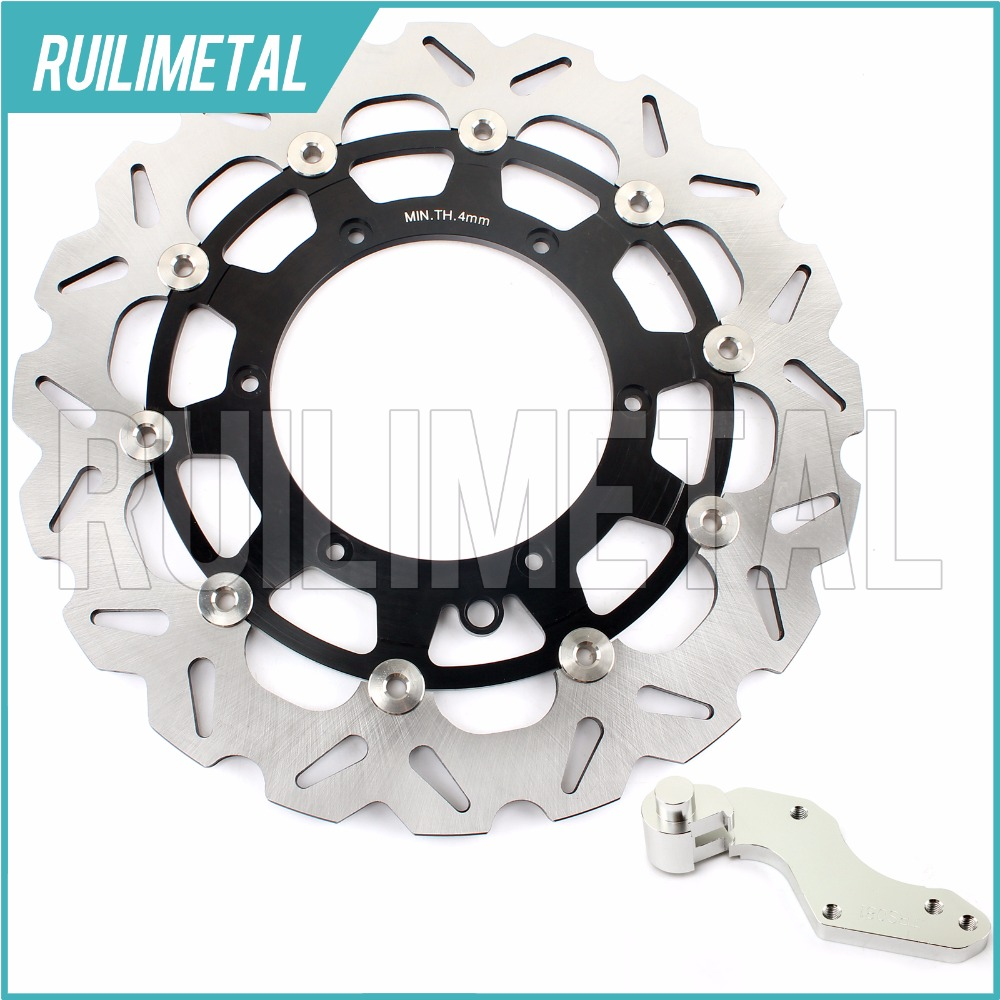 320mm oversize Front Brake Disc Rotor Bracket Adaptor for KTM EXC GS MX SX SXS 125 144 XC 200 W 2006 2007 2008 06 07 08 high quality 270mm oversize front mx brake disc rotor for yamaha yz125 yz250 yz250f yz450f motorbike front mx brake disc