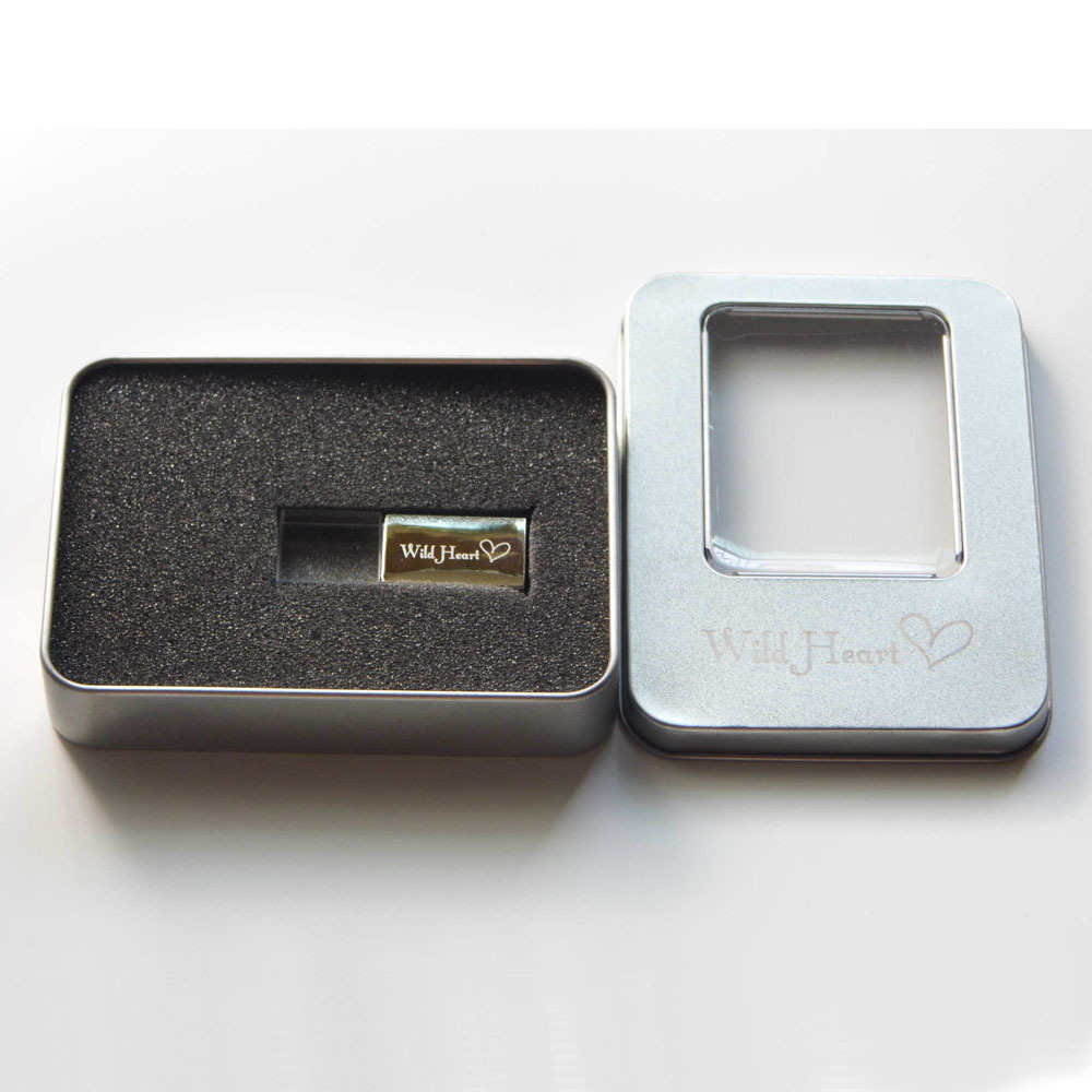 2015 New Creative Company Personal Gift Logo Engrave Beautiful Gift Pendrive Acrylic Metal 1g 2g 4g 8g 16g 32g Usb Flash Drive In Usb Flash Drives From
