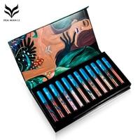 HUAMIANLI 12Pcs Metal Lip Gloss Moisturizing Waterproof Long Lasting Matte Liquid Lipstick Set Beauty Lip Gloss