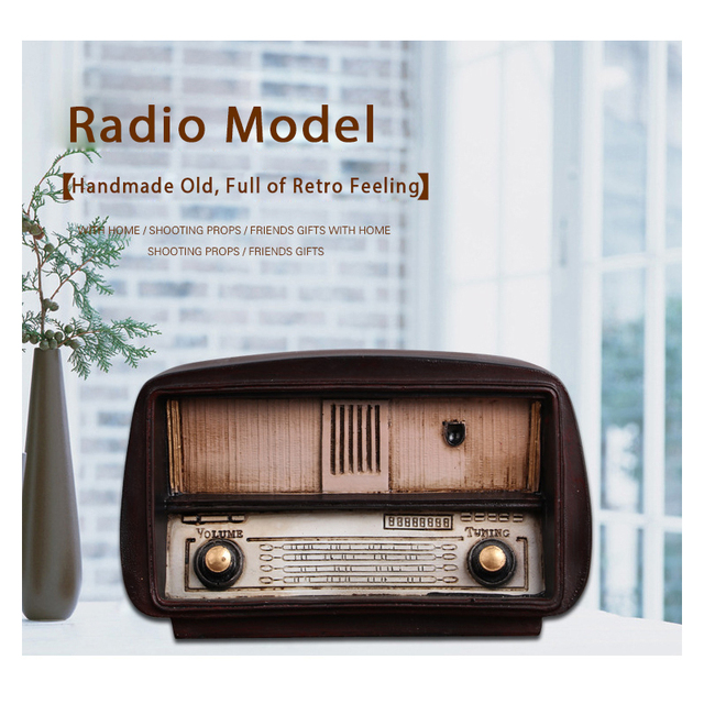 Vintage Resin Radio Model for Home Decor