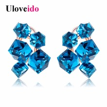 Women's Earrings with Stones Wedding Earring Rose Gold Large Rhinestone Gifts for Women Crystal Jewelry Accessories 15%off GR124