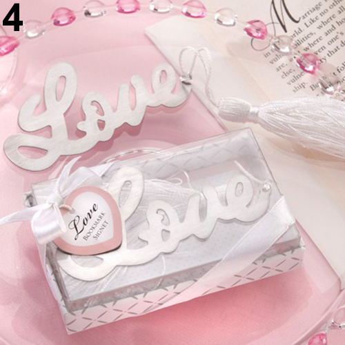 50PCS Letter LOVE Bookmark Wedding Favors And Gifts For