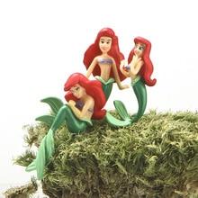 New 3pcs/set 3-5cm Beautiful The Little Mermaid Princess Ariel PVC Action Figure