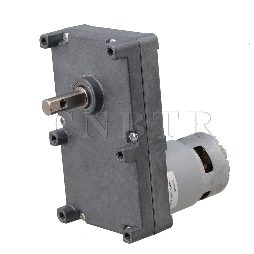 CNBTR  Low Speed Electric Geared Motors DC12V 2.5RPM Metal Gearbox Motor  цены